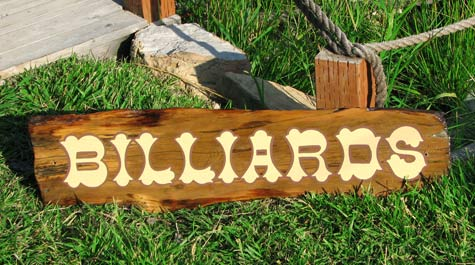Billiards ~ Hand-Painted Specialty Sign
