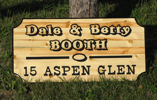 Booth sign