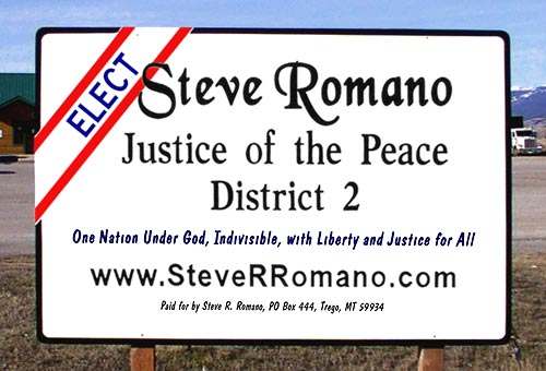 Sample Campaign Sign