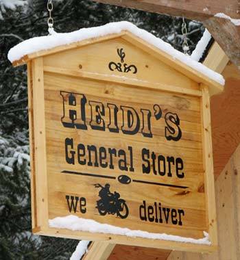 General Store Sign, front